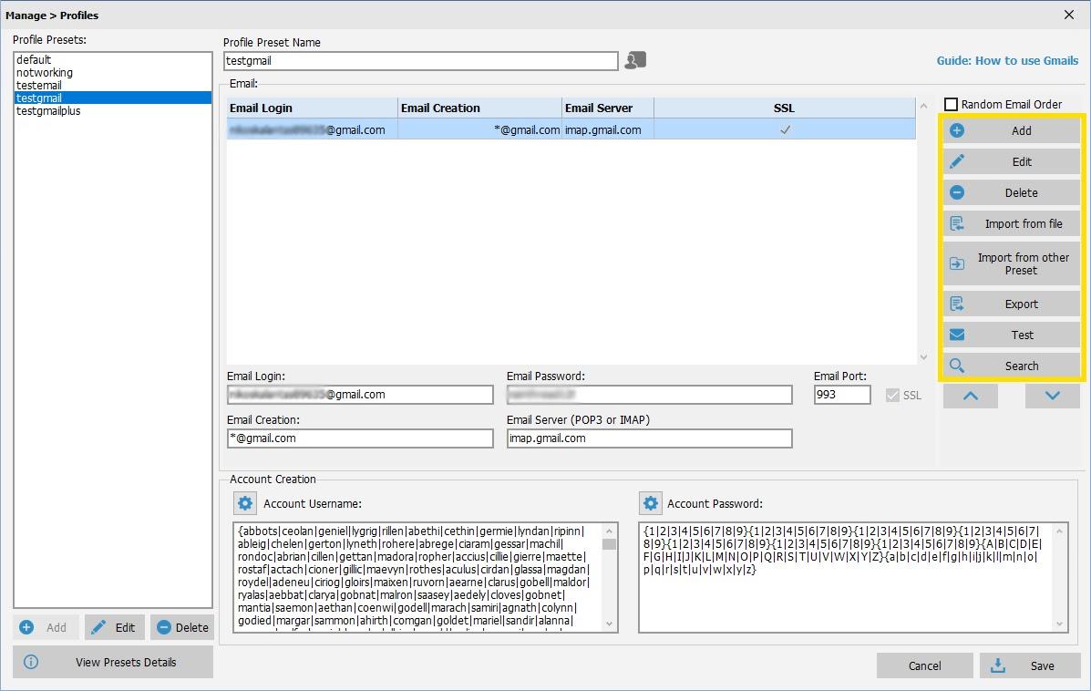 SEO Autopilot Software - Profile Creation